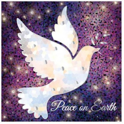 Peace On Earth Luxury Christmas Cards 10 Pack