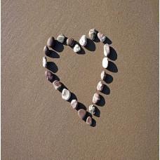 Pebble Heart Card