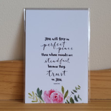 You Will Keep In Perfect Peace Greetings Card
