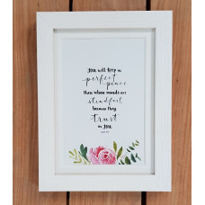 """Perfect Peace Framed Print 7"""" x 5"""""""