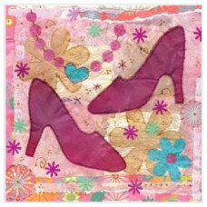 Pink Shoes Small Greetings Card
