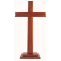 Natural Wood Standing Cross 30cm