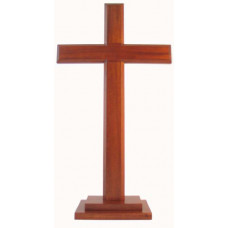 Natural Wood Standing Cross 40cm
