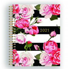 2021 Roses And Stripes Weekly Planner