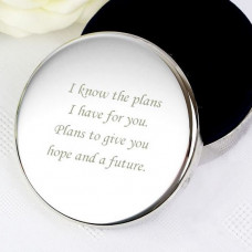 Round Silver Plated Trinket Box I Know The Plans