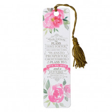 Bookmark With Tassel For I Know The Plans