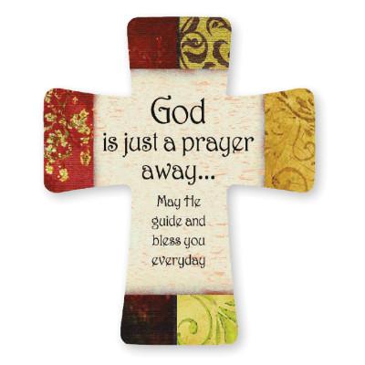 Porcelain Cross - God Is Just A Prayer Away