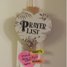 Prayer List Peg
