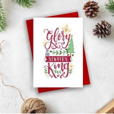Christmas Cards 10 Pack Assorted - Glory To The Newborn King