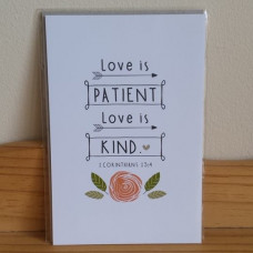 Love Is Patient Inspirational Card