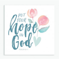 Put Your Hope In God Square Greetings Card