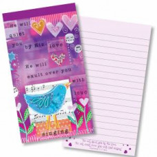 He Will Quiet You With His Love Jotter Pad