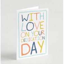 Rainbow Doodle Dedication Card Blue A6