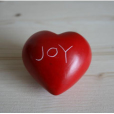 Joy Soapstone Heart Pebble