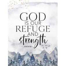 God Is Our Refuge Wooden Magnet