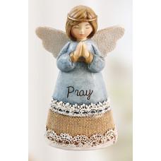 Resin Message Angel Pray