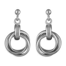 Silver Russian Wedding Rings Earrings