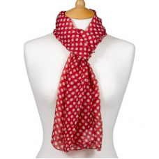 Scarf With Scripture Polka Dot Red - Precious