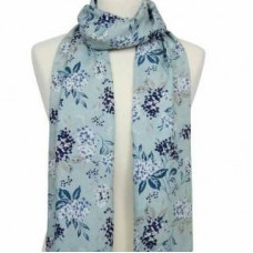 Scarf With Scripture Hydrangea