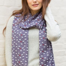 Scarf with Scripture Sheep Grape