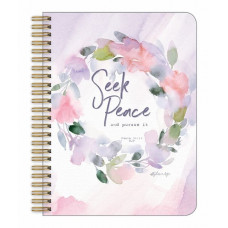Seek Peace Spiral Medium Journal