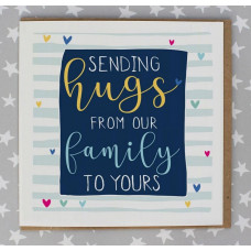 Sending Hugs To Your Family Card