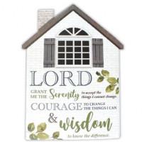 Serenity Prayer Porcelain House Plaque