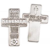 Metal Pocket Cross Serenity Prayer