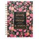Wirebound Serenity Journal In Pink And Black