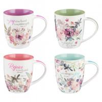 Set Of Four Mugs - Rejoice