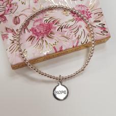 Hope Silver Bead Bracelet