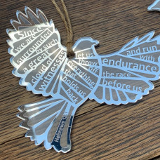 Since We Are Surrounded Silver Acrylic Bird