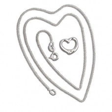 Small Open Heart Silver Necklace