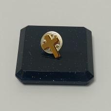 Gilt Cross Lapel Pin