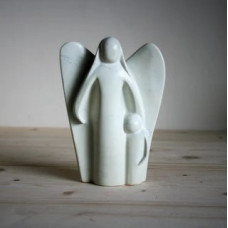 Soapstone Angel And Child