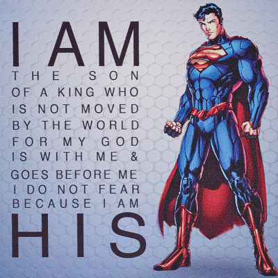 Son Of The King Superhero Square Canvas Plaque