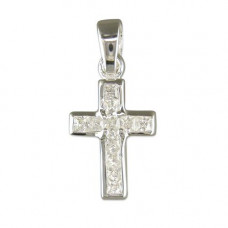 Sparkly Silver Cross Necklace