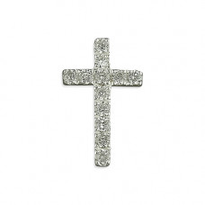 Small Sparkly Cubic Zirconia Cross Necklace