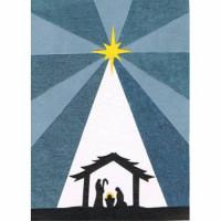 Christmas Card Shining Nativity