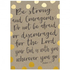 Be Strong & Courageous Spotty Notebook