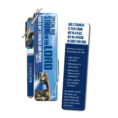 Strong In The Lord Pen & Bookmark Set Special Dad
