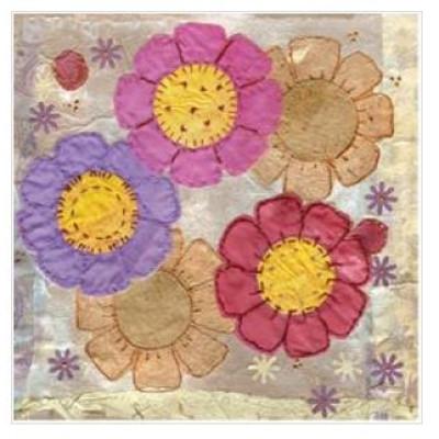 Summer Flowers Greetings Card