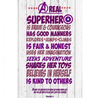 Superhero Words Girl Artboard