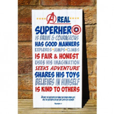 Superhero Words Canvas Artboard