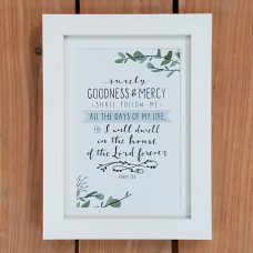 Framed Print: Surely Goodness And Mercy