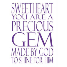 Sweetheart You Are A Precious Gem Notebook