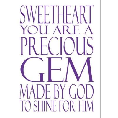 Sweetheart You Are A Precious Gem Notebook