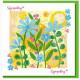 Sympathy Yellow Flowers Card No Bible Verse
