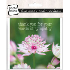 Photonotes Thank You for Your Words of Sympathy Pack Of 5 Notecards