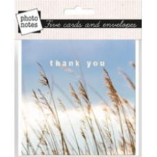 Photonotes Thank You Notecards Pack of 5 Grasses